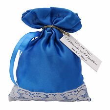 Satin Drawstring Gift Bags Printed Wedding Party Favor Bag With Personalized Tag