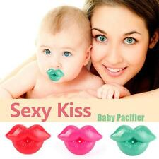 Cute Baby Toddler Infant Pacifier Sexy Kiss Dummy Lip Nipple Soother Silicone