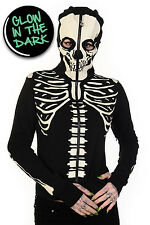 Glow in The Dark ( Ladies ) Skeletion Full Face Hoody By Banned