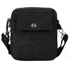 Men Canvas Fanny Pack Waist Bag Casual Crossbody Messenger Shoulder Pouch Purse
