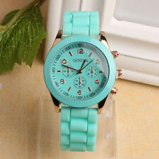 GENEVA WATCH Fashion Women Men Silicone Rubber Band Quartz Analog Wrist Watches