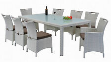 NEW VICTORIA 9 PIECE OUTDOOR DINING SETTING