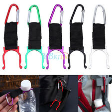 Portable Outdoor Climbing Camping Carabiner Water Bottle Buckle Hook Holder Clip