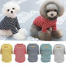 Dog Cat Pet Clothes Apparel Classic Stripe Summer T-shirt Shirt Autumn Sweater