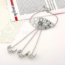 Multi-Layer Tassel Hand Finger Ring Chain Cuff Hand Harness Chain Linked