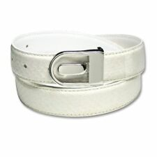 Men's Snake Skin Belt WHITE Genuine SnakeSkin Mens Bonded Leather Belt & Buckle