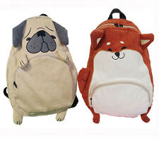 Cute Animal backpack school bags for girls larger capacity corduroy shoulder Bag