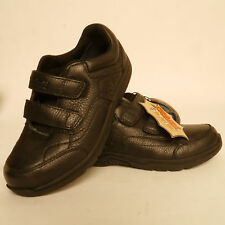 Timberland Boys  Black School Shoes Velcro Fastening Leather New £39.99