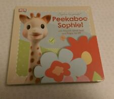 Sophie La Girafe Peekaboo Sophie! Touch & Feel Childrens Board Book NEW