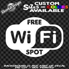 WiFi Free Spot Custom Vinyl decal Car Truck Door Store Window Business Shop USA