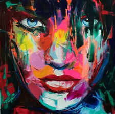 Hand-painted Large Art Canvas OIL PAINTING Wall Decor Figure Woman Face