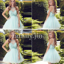 Beaded Halter Homecoming Dresses Evening Cocktail Dress Prom Party Clubwear Gown