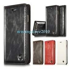 New Luxury Retro Premium Leather Magnetic Wallet Flip Stand Case Cover for Apple