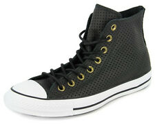 New Men's Converse Chuck Taylor Perf Leather Hi Black/white Footwear Hi-top Snea