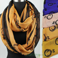 Stylish Fashion Women's Print Infinity Loop Cowl Eternity Endless Casual Scarf