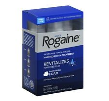 Men's Rogaine Hair Regrowth Treatment Foam Unscented 3 month supply exp 12/16