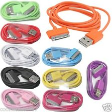 Bright Colour USB Data Cable Sync Charger FOR APPLE iPhone,iPad 2&3,iPod