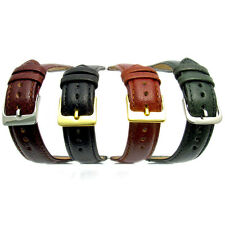 Genuine Leather Watch Band Strap Padded Denver 16mm 18mm 20mm Choice of 4 Colors