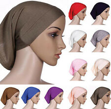 Headwrap Islamic Women Head Scarf Cotton Bonnet Hijab Underscarf Muslim Cover
