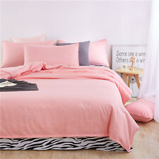 Light Pink Single Queen King Size Bed Set Pillowcase Quilt Duvet Cover Zebra L