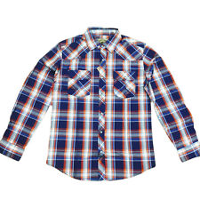 Mens Plaid Flannel Long Sleeved Button Up Shirt