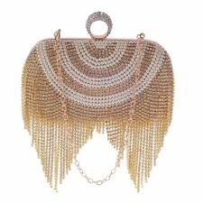 New Women Tassel Clutch Bag Ladies Finger Ring Evening Bags Party Clutch Purse