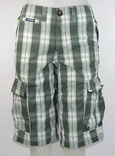 SuperDry Washbasket Shorts MS7EE029 Green Checked Green + new + Size S+L
