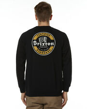 New Brixton Men's Soto Mens Crew Fleece Mens Hoodie Black