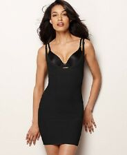 NWT New Maidenform Firm Control Open Bust Body Shaper Slip 2541 BLACK OR NUDE
