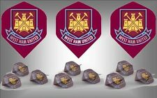 WEST HAM UNITED FC Football Club Crest Dart Flights - Choose how many sets !