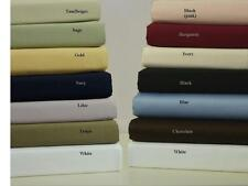 Real1200TC Super Soft 4Pc Sheet Set 100%PimaCotton Solid With Extra Deep Pocket