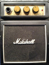 MARSHALL PORTABLE BATTERY OPERATED MINI GUITAR AMP SMALL AMPLIFIER MODEL MS-2