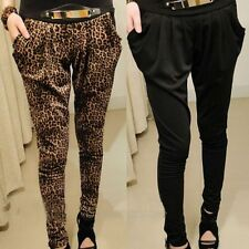 Casual Womens Ladies Harem Pencil Pants Fit Slim Baggy Long Trousers Fashion SN