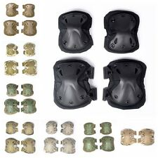 Combat Protective set Tactical Military Paintball Knee Elbow Pad Protector Gear