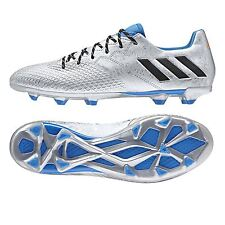 adidas Mens Gents Football Soccer Messi 16.3 Firm Ground Boots Studs - Silver