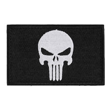 Fashion Skulls Double Side Embroidery Trim Patch USA Army Morale Armbands Badge