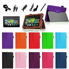 "For Amazon Kindle Fire HDX 7"" 7 Leather Case Cover Stand 2013 Model Accessories"
