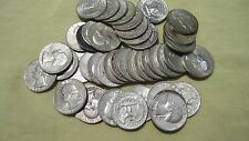 90 Percent Lot of 4 *** Silver Washington Quarters ** 1950-1964 Face 1.00 # 77