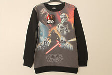 BNWT Boys Star Wars Character Print Sweatshirt Jumper Age 5-12 Years *FREE P&P*