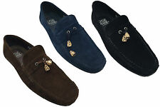New Men Slip On Suede Comfortable Tassel Loafers Shoes UK Size 6 7 8 9 10 11