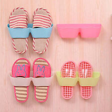 Wall-Mounted Sticky Hanging Shoe Hook Shelf Rack Shoes Holder Storage Exquisite