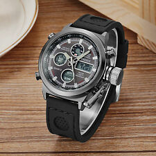 OHSEN Military Mens Quartz Date Alarm LED Analog Digital Army Sport Wrist Watch