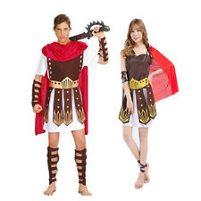 Adult Roman Gladiator Costume Spartan Warrior Centurion Fancy Dress Outfit New