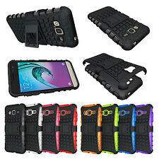 Hybrid Armor Dual Layer Touch Kickstand Protective Case for Samsung Galaxy J3