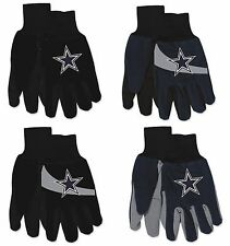 Brand New NFL Dallas Cowboys No Slip Grip Utility Work Gardening Gloves!