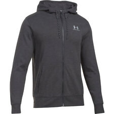 Under Armour Tri Blend Jersey Mens Hoody Zip - Asphalt Heather All Sizes