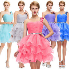 Organza One Shoulder TUTU Dress Prom Cocktail Ball Gown Evening Party Graduation
