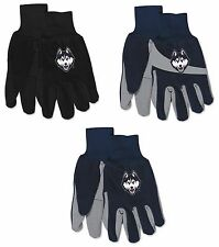 Brand New NCAA UConn Huskies No Slip Grip Utility Work Gardening Gloves