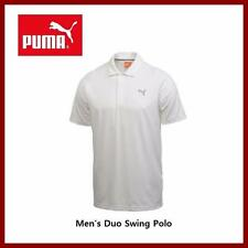 Puma Golf Men's Duo Swing Polo Golf White Shirts Small Medium Large $75