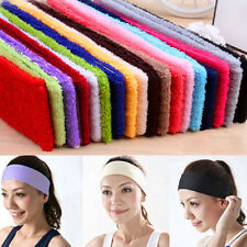 Chic Sweatband Terry Cloth Cotton Headbands,Yoga/Gym/Workout Sweatbands New 2017
